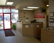 Lobby area at Paramount auto body minneapolis MN.